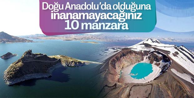 Size Doğu Anadolu'yu hayran bırakacak manzaralar