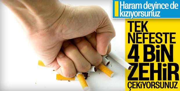 Sigara içenler tek nefeste 4 bin zehir çekiyor