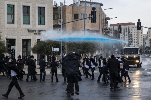 İsrail polisinden Ultra-Ortodoks Yahudilerine müdahale