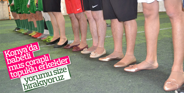 Topluklu ayakkabı giyen erkekler kadınlarla maç yaptı