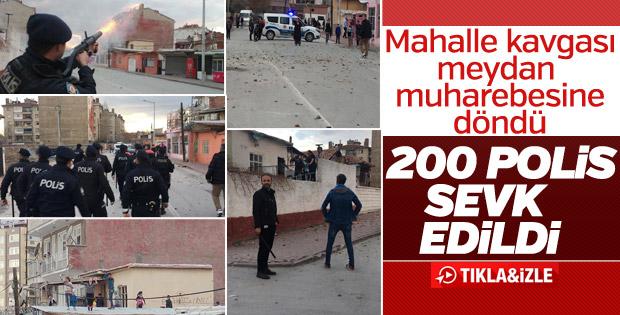 Konya'da bir mahalle savaş alanına döndü
