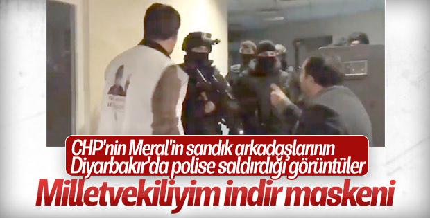 HDP'li vekiller polise saldırdı