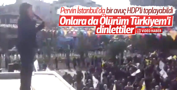 HDP mitinginde 'Ölürüm Türkiyem' sesleri