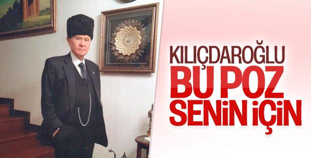 Bahçeli'den, Kılıçdaroğlu'na kalpaklı pozla yanıt