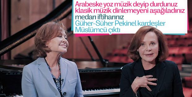Klasik müzik temsilcisi Pekinel kardeşler Müslüm hayranı