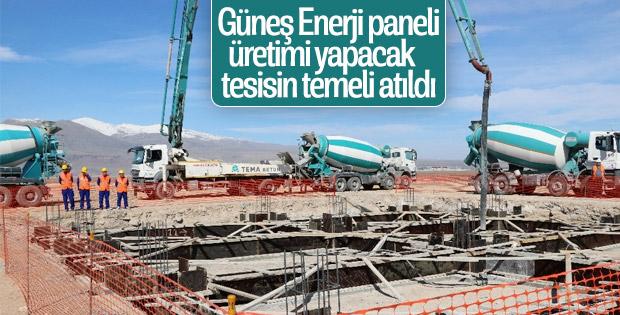 Güneş enerji paneli üretimi tesisi inşasına başlandı
