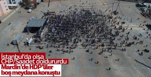 Mardin'deki HDP mitingine az sayıda kişi katıldı