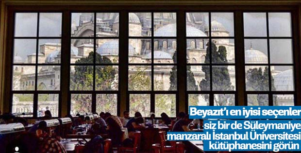 Beyazıt Kütüphanesi dünyanın en güzelleri arasında