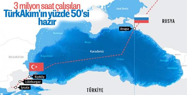 TürkAkım'ın yüzde 50'si tamamlandı