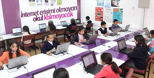 Bütün okullara internet erişimi sağlanacak