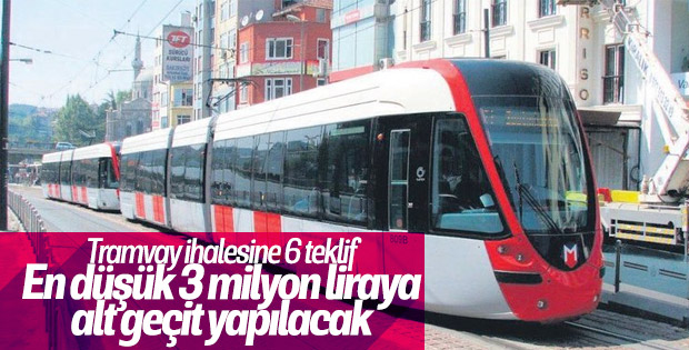 Kocaeli Kuruçeşme tramvay hattına alt geçit yapılacak