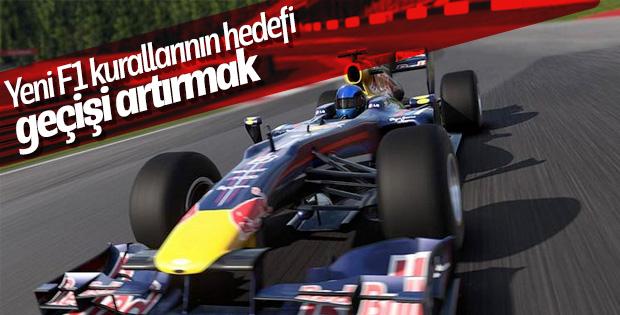 Yeni F1 kurallarında değişiklik