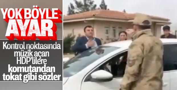 HDP'li milletvekillerinden jandarmaya provakasyon