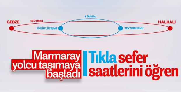Marmaray'ın yeni sefer saatleri