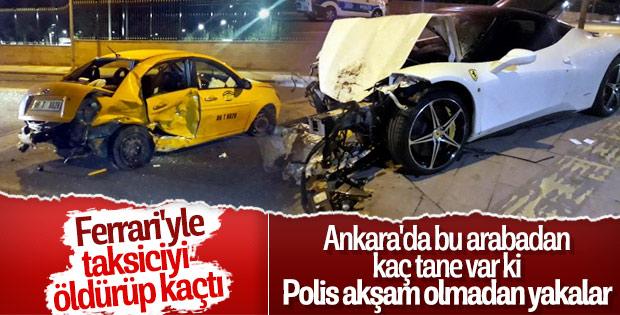 Lüks aracın sürücüsü taksiye çarptı, kaçtı