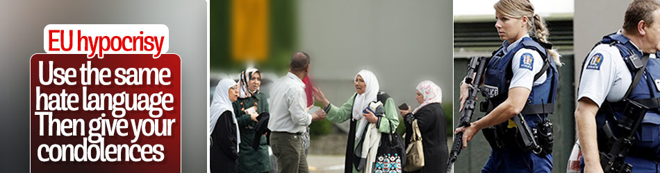 EU condemns terror attacks in New Zealand
