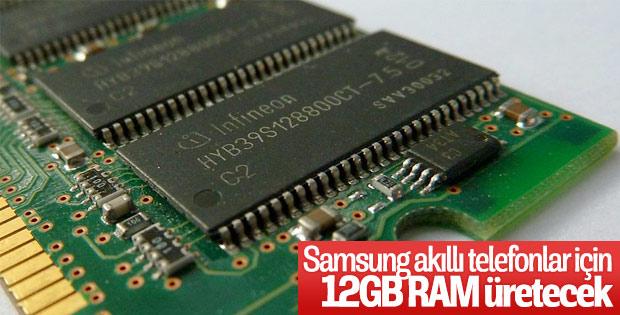 Samsung, telefonlar için 12GB RAM üretimine başladı