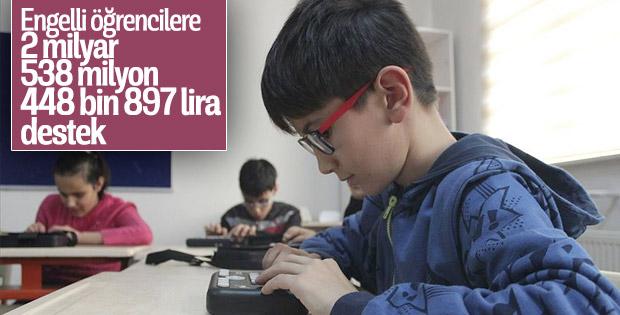 Engelli öğrencilere 2 milyar 538 milyon liralık destek