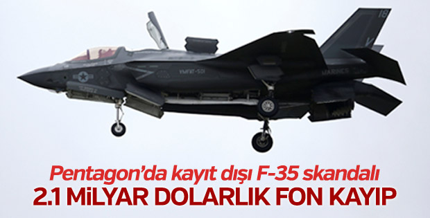ABD'nin F-35 programında 2.1 milyar dolarlık kayıt dışı