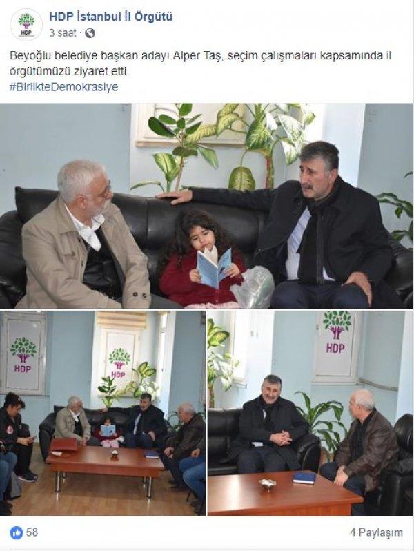 CHP'li Taş, HDP'lilerle bir araya geldi