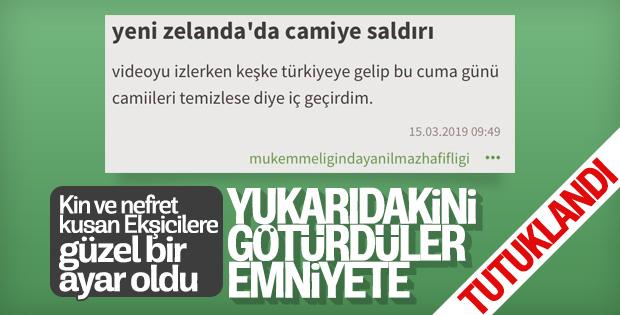 Nefret söylemleri yapan Ekşi Sözlük yazarı tutuklandı