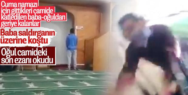 Camiye saldıran teröristi durdurmak için üzerine atladı