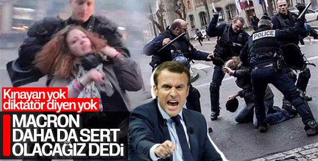 Macron Sarı Yelekliler'e sert önlemler alacak