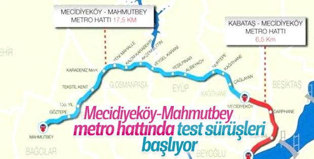 Mecidiyeköy-Mahmutbey metrosunda hazırlıklar sürüyor