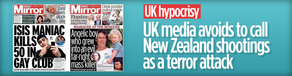 UK media avoids to call New Zealand shootings as a terror attack