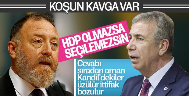Mansur Yavaş ittifak ortağı HDP'yle arasını bozdu