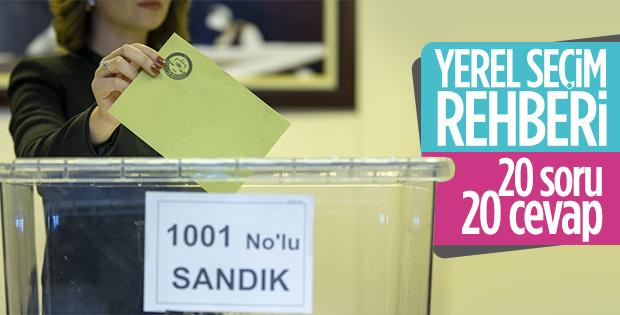 31 Mart yerel seçimler hakkında merak edilenler.. 20 Soru 20 Cevap