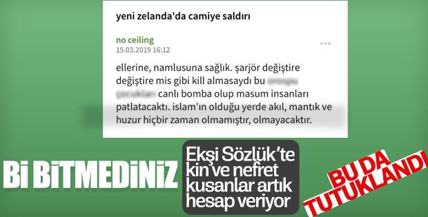 Terörü öven Ekşi Sözlük yazarı tutuklandı