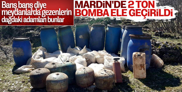 Mardin'de yakalanan 2 ton amonyum nitrat imha edildi