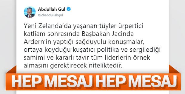 Abdullah Gül, kendi üslubuyla Yeni Zelanda tweeti attı