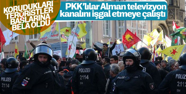 Almanya'da PKK'lılar devlet televizyonuna saldırdı