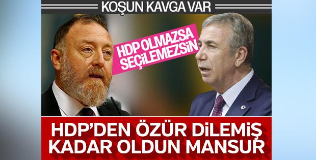 Mansur Yavaş HDP ile ilgili açıklamalarında geri adım attı