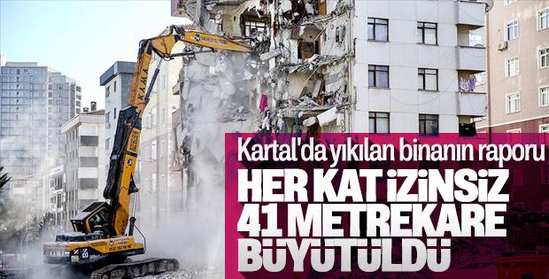 Kartal'da çöken binanın her katının büyütüldüğü ortaya çıktı