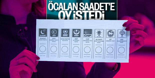 HDP'li Öcalan Saadet Partisi'ne destek çağrısı yaptı