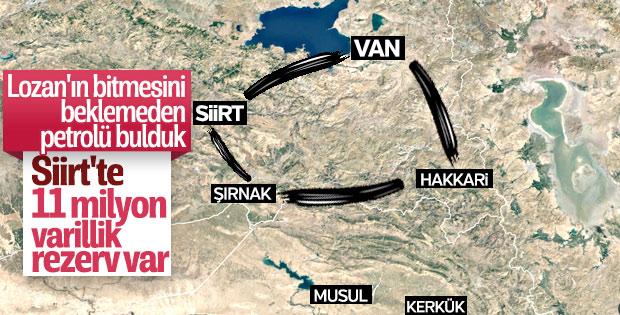 Siirt'te 11.2 milyon varillik petrol rezervi bulundu