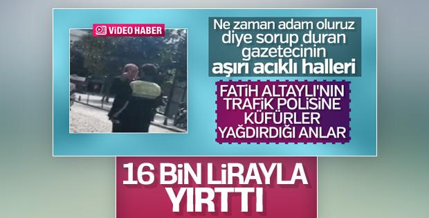 Polise küfür eden Fatih Altaylı'ya idari para cezası