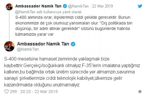 ABD kızmasın diyen büyükelçiye: Maaşın Türk milletinden