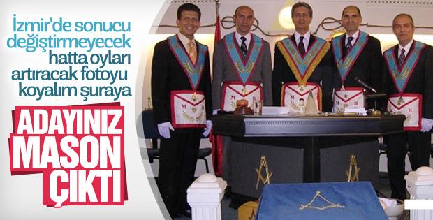 CHP'nin İzmir adayının mason fotoğrafı