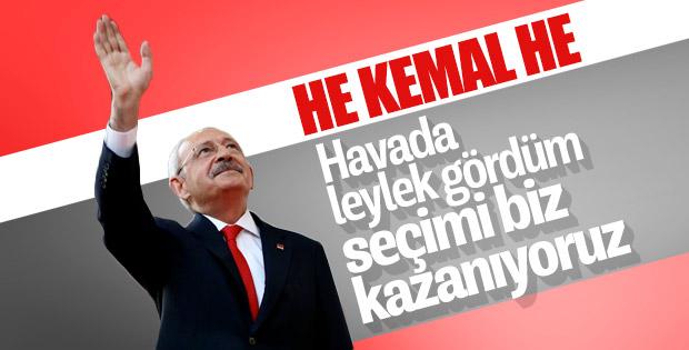 Kemal Kılıçdaroğlu leyleği gördü