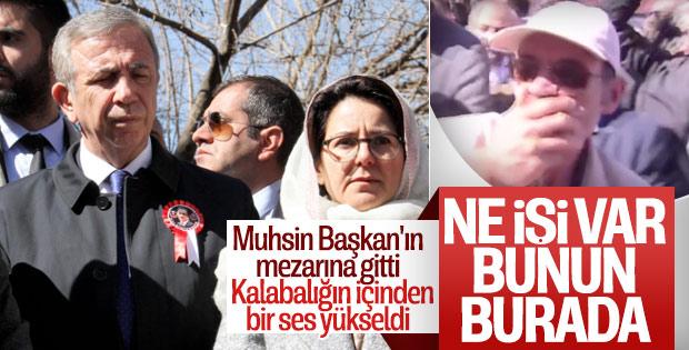Mansur Yavaş'a Muhsin Yazıcıoğlu'nun kabrinde protesto