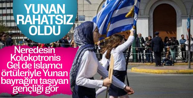Yunanlardan başörtülü öğrencilere tepki