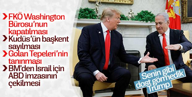 ABD-İsrail ilişkileri Trump ile zirve yaptı
