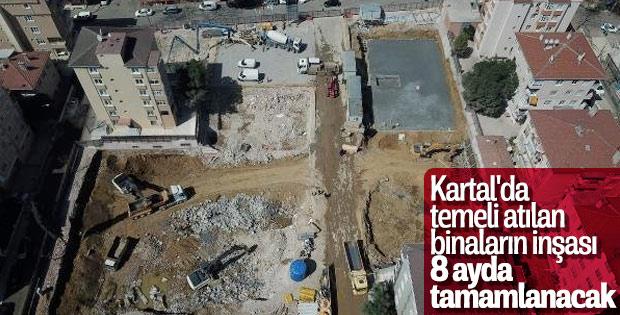 Kartal'da çöken binaların yapımı kısa sürede sona erecek