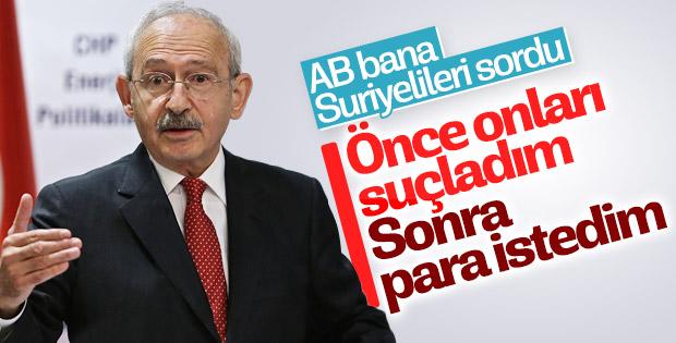Kılıçdaroğlu: Suriyeliler konusunda önce AB'yi suçladım