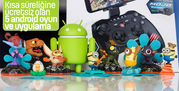 Kısa süreliğine ücretsiz olan 5 android oyun ve uygulama