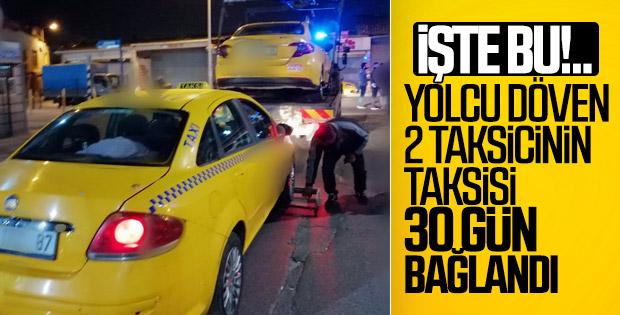 Kısa mesafe pazarlığı yapan taksiciler ceza aldı
